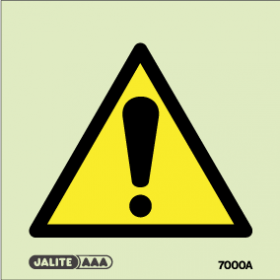 Warning safety sign